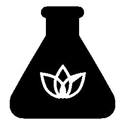 葉の輪郭の無料アイコンのフラスコ
