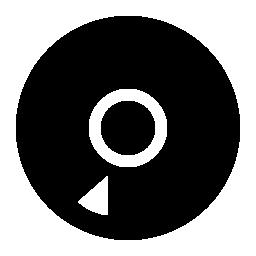 コンパクト ディスク シルエット無料アイコン
