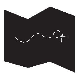 X マーク スポット宝地図無料アイコン
