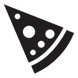 ラウンド トッピング無料アイコンとピザのスライス