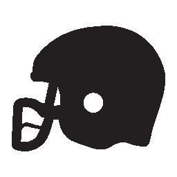ラグビー ヘルメット シルエット無料アイコン
