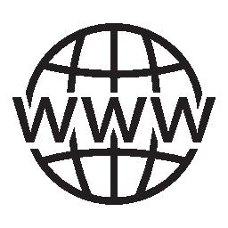 無料アイコンのグリッドをワイドウェブの世界