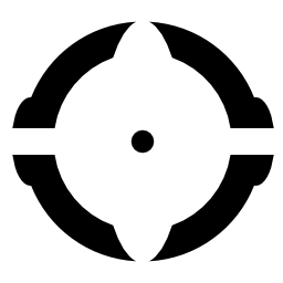 円形の砲ターゲット無料アイコン