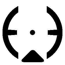 円形ターゲット撮影の無料のアイコン