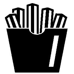 フライド ポテト箱コンテナーの無料アイコン