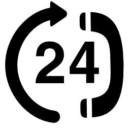 24 時間通話無料のアイコン