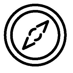 コンパスの方向ツール無料アイコン