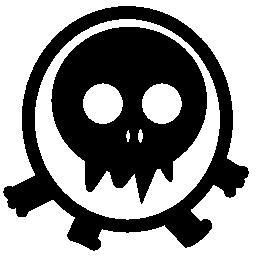 ウォーキング頭蓋骨ヘッド モンスター無料アイコン
