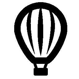ストライプの熱い空気バルーン無料アイコン