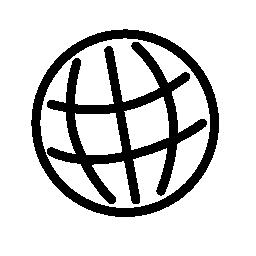 球形グリッド無料アイコン