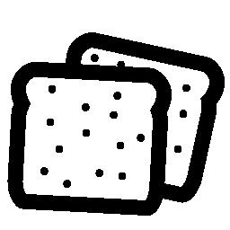 無料アイコンのパンのパン