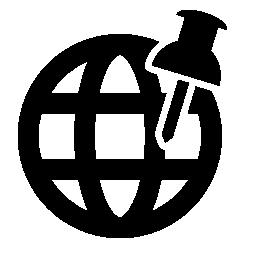 世界グリッドの無料アイコンを押しピン