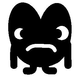 ハート形の悲しいモンスター無料アイコン