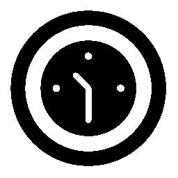 白い詳細無料アイコンを円形の壁時計