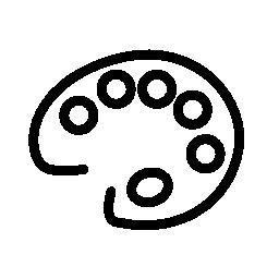 画家のパレットの無料のアイコン