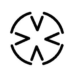 クロス輪郭形状のバリアント無料アイコン