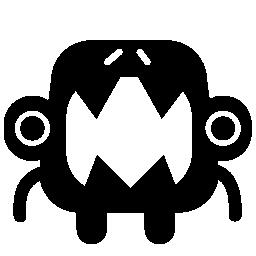 無料のアイコンを大きな口を持つ怪物