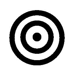 ターゲット サークル無料アイコン