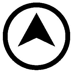 サークル概要無料アイコンの内側矢印のポイントを場所シンボル