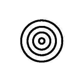ターゲットの同心円概要無料アイコン