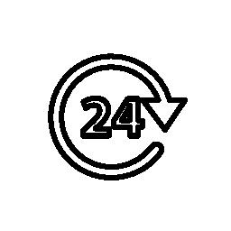 24 時間サービス、IOS 7 インタ フェース シンボル無料アイコン