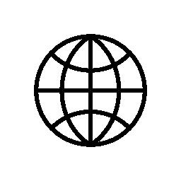 地球のグリッドの無料のアイコン