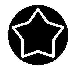 白い星のボタン無料アイコン