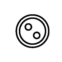 2 つの穴の服ボタン無料アイコン
