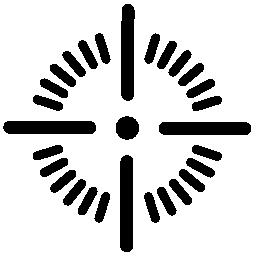 シュート ターゲット ポイント無料アイコン