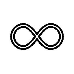 2 つのサイド バイ サイド、無限のシンボル無料アイコンを円します。