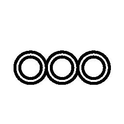 3 つの小さなサークル概要無料アイコン