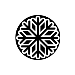 無料の黒のアイコンで雪の結晶