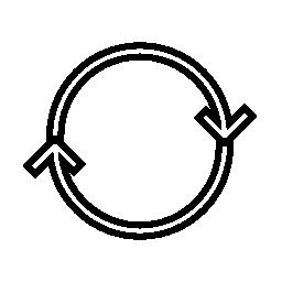 ダブル回転矢印の無料アイコン
