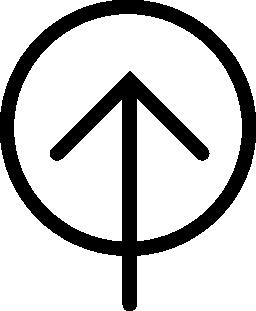 上矢印、サークルに無料のアイコンをアップロードします。