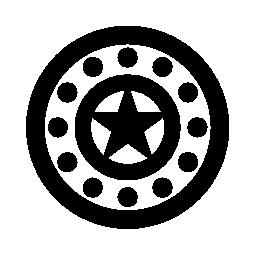 キャプテン アメリカのシールド無料アイコン