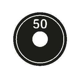 50 キログラム重量無料アイコン