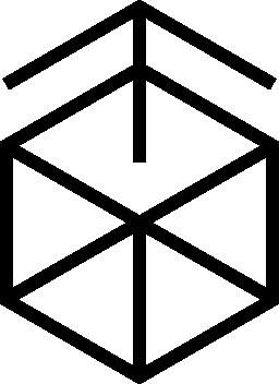 キューブ概要無料アイコンから昇順の矢印