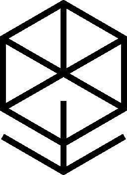 キューブの概要無料のアイコンの下矢印