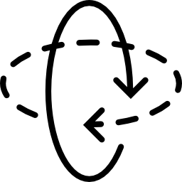 円を描く矢印無料アイコン