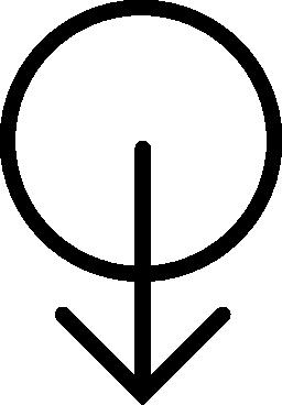 男性の性別シンボル無料アイコン