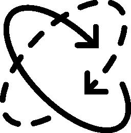 円形の収束矢印無料アイコン