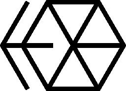 六角形の矢印無料アイコン