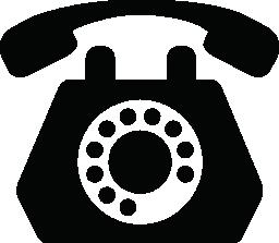 回転古い学校電話ダイヤルの無料アイコン