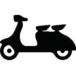 旅客型スクーターの無料アイコン