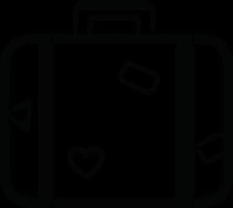 旅行荷物のデザインやステッカーの無料アイコン