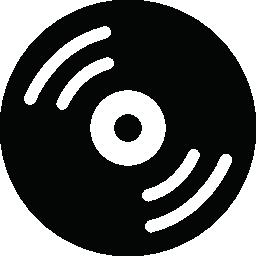 レトロな音楽ディスク無料アイコン