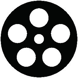 映画フィルム リール無料アイコン
