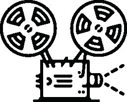 ビンテージ フィルム デバイス無料のアイコンを表示します。