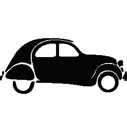 ヴィンテージ ラウンド バックの車無料アイコン