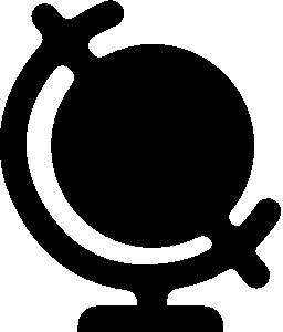 ホルダー無料アイコンと世界地図